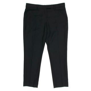 Isabel Marant Black Cropped Straight Leg Trousers