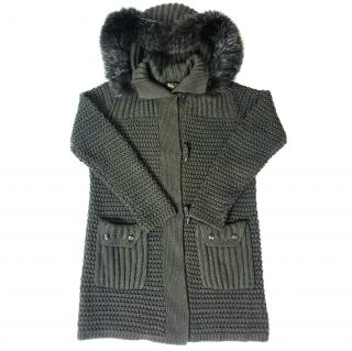 Loro Piana Knitted Jacket With Fur Trim Hood