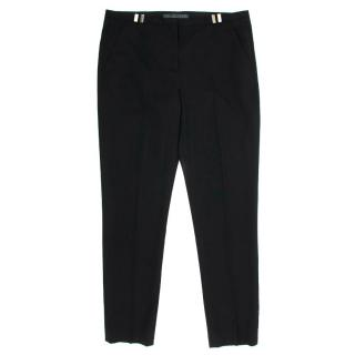 The Kooples Black Trousers With Gold Belt Holes