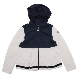 Moncler Kids Navy and White Jacket