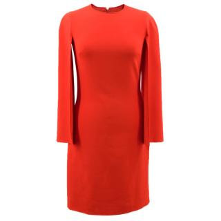 Givenchy Round-neck long-sleeved cady mini dress