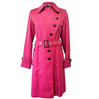 Aquascutum pink trench coat