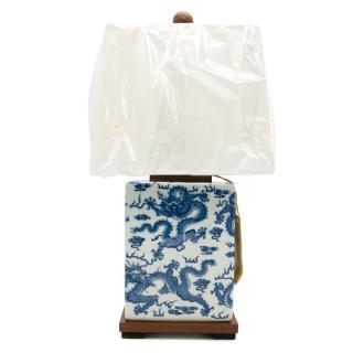 Ralph Lauren Home Blue White Chinoiserie Porcelain Lamp
