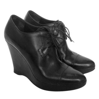 Jil Sander black leather shoes