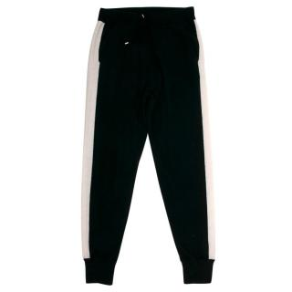 N. Peal Stripe Detail Lounge Cashmere Trousers