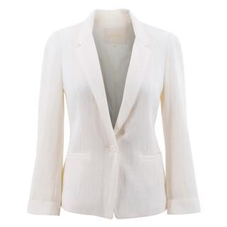 Maje White Pattern Blazer Jacket