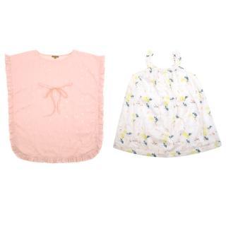 Marie Chantal White Floral Print Dress Set