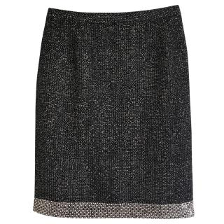 Nicole Farhi pencil tweed skirt with sequinned hem