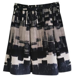 Max Mara navy and grey skirt