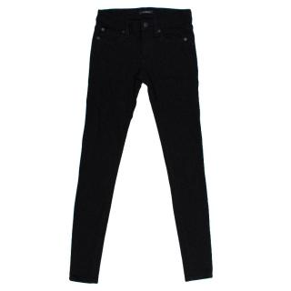 7 For All Mankind Black Skinny Jeans