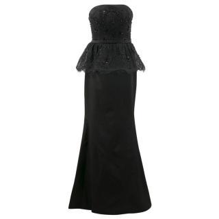 Sherri Hill Lace Black Gown