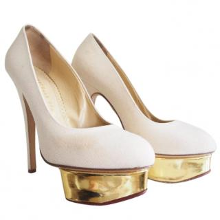 Charlotte Olympia Cream Dolly Shoes