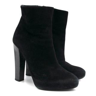Ralph Lauren Black Heeled Boots