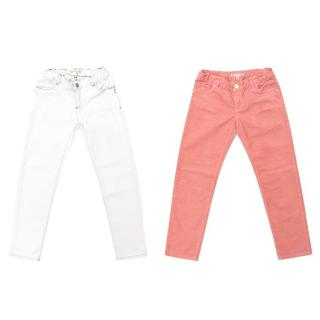 Bonpoint White and Dusky Pink Jeans