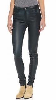 M.i.h. Jeans Ellsworth Stretch-Leather Skinny Trousers