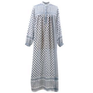 Mae Blue Long Sleeved Dress