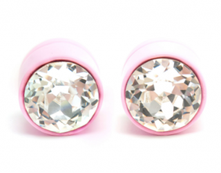 Givenchy pink large magnetic studded crystal earrings