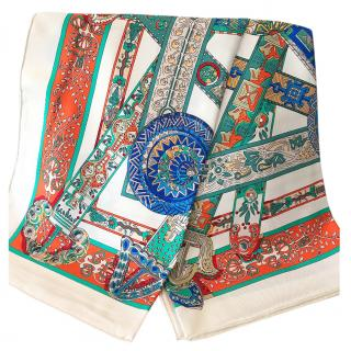Hermes Patterned Scarf