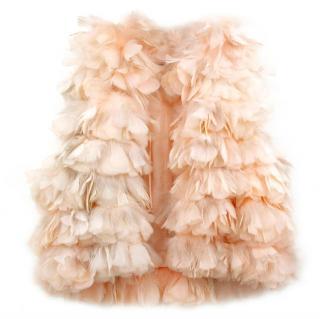 Sonia Rykiel Feather Vestcoat