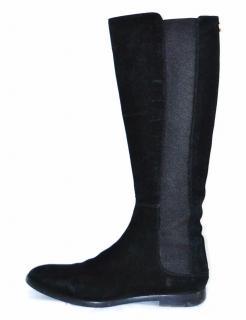 Sergio Rossi black stretch-suede boots