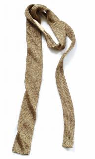 Ralph Lauren Collection runway gold metallic headband/ tie