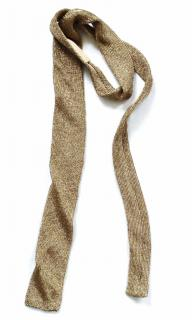 Ralph Lauren Collection runway gold metallic headband/ tie