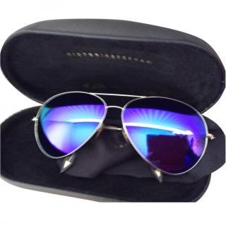 Victoria Beckham Purple Aviator mirrored sunglasses