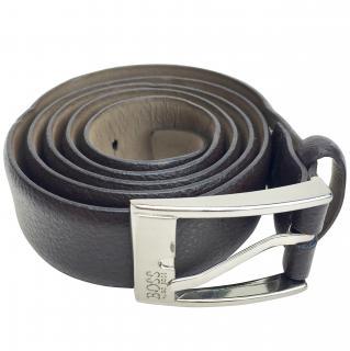 Hugo Boss Brown Leather Belt