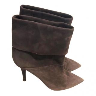 Aquazzurra brown suede ankle Boots