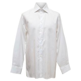 Richard James Savile Row White and Pink Patterned Shirt