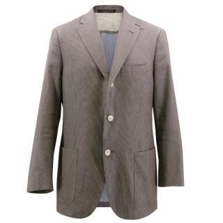Corneliani Brown Pin Stripe Blazer