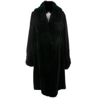 Jane Bourvis Black Velvet Coat