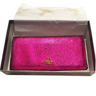 Vivienne Westwood Metallic Pink Ebury Purse