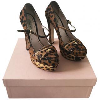 Miu Miu leopard print heels