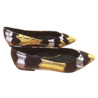 Sandro Snake Skin Flats