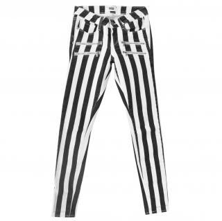 Paige Edgemont Black & White Skinny Jeans
