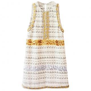 By Malene Birger Embellished Tweed Dress