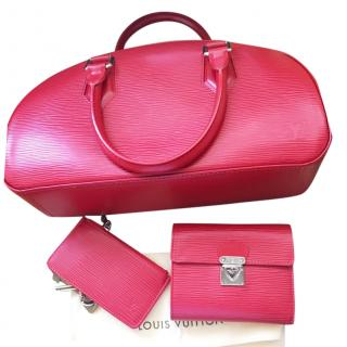 Louis Vuitton EPI bag, purse and key holder set