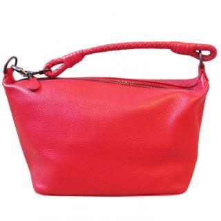 Bottega Veneta Red Leather Handbag