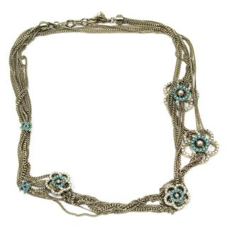 Chanel new Long Camelia Necklace