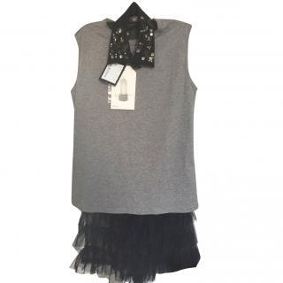 Max Mara knit/tulle dress