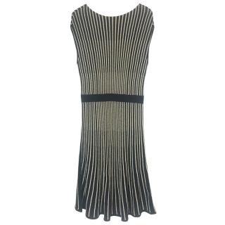 Marc By Marc Jacobs Navy & Gold Lurex Dress.