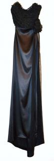 Dolce & Gabbana black silk bustier gown