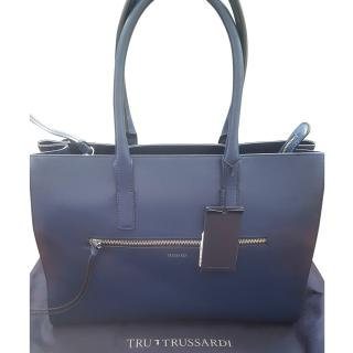 Trussardi blue leather bag