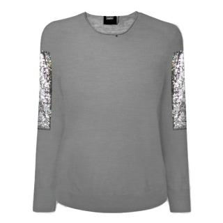Markus Lupfer Grey/Silver Armour jumper