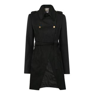 Camilla and Marc Alask Black Wool Trench Coat