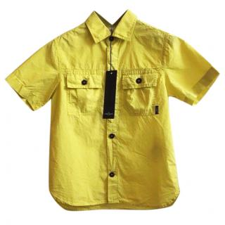 Stone Island Boys Yellow Shirt