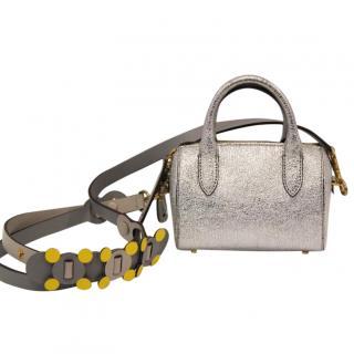 Anya Hindmarch Silver Mini Barrel Bag