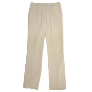 Prada Beige Straight Leg Trousers