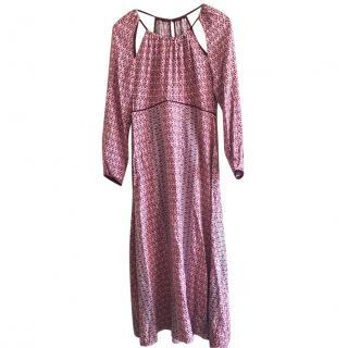 Maje printed maxi dress